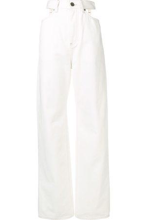 Maison Margiela Wide leg cut-out jeans
