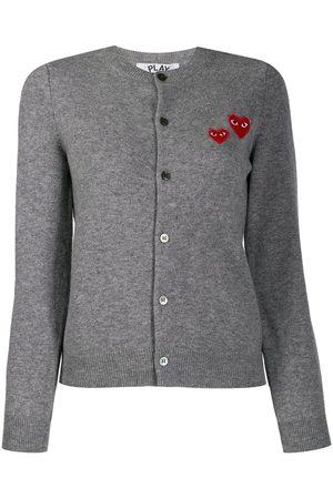 Comme des Garçons Embroidered cardigan - Grey