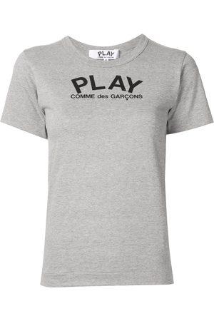 Comme des Garçons Logo print relaxed fit T-shirt - Grey