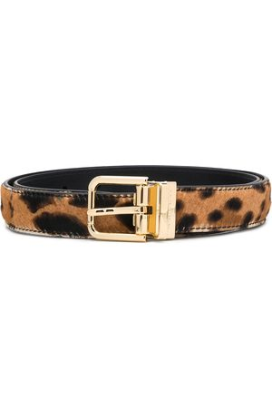 Dolce & Gabbana Adjustable leopard print belt