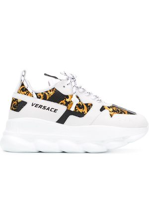 VERSACE Chain Reaction Baroque-print sneakers