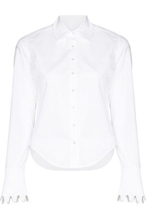 COPERNI Scallop cuff shirt