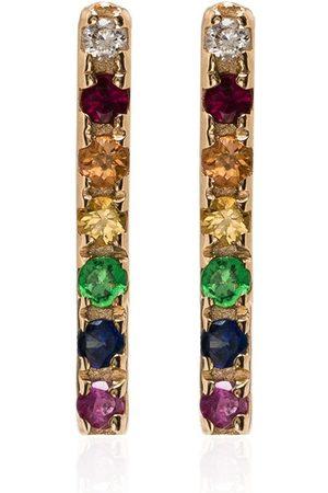 Mateo 14kt gold rainbow sapphire earrings - God