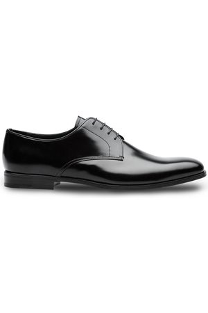 Prada Men Formal Shoes - Brushed leather derby shoes