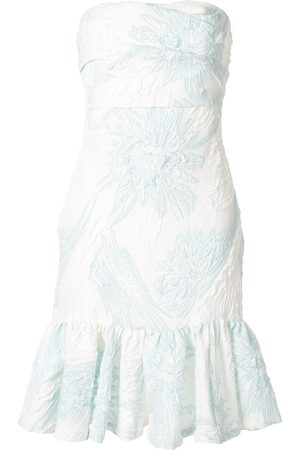 Bambah Floral strapless dress