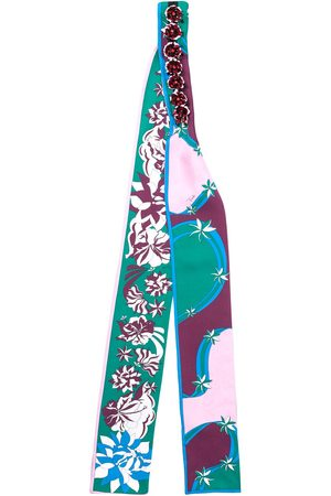 Emilio Pucci Bead embroidery scarf