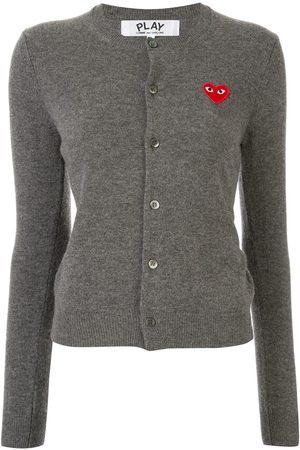 Comme des Garçons Heart logo wool cardigan - Grey