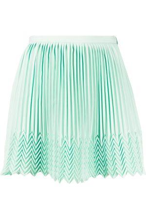 MARCO DE VINCENZO Women Pleated Skirts - Zigzag hem pleated skirt