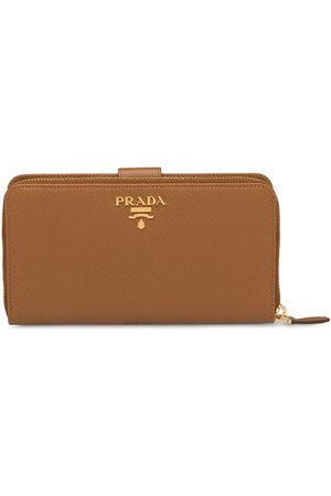 Prada Women Wallets - Saffiano logo plaque wallet