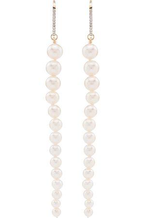 Mateo Women Earrings - 14Kt pearl and diamond drop earrings