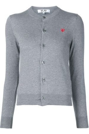 Comme des Garçons Mini heart logo cardigan - Grey