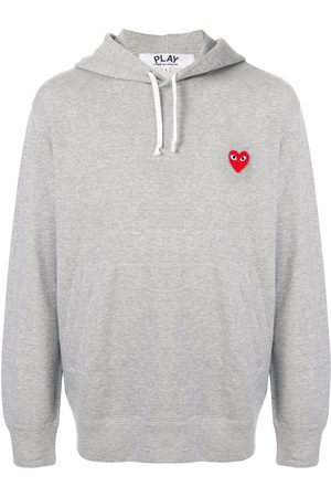Comme des Garçons Embroidered logo hoodie - Grey