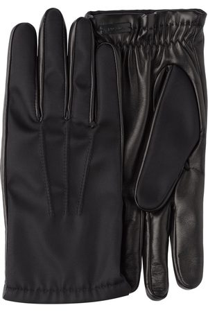 Prada Men Gloves - Fabric and leather gloves