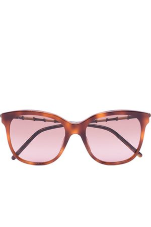 Gucci Women Square - Tortoiseshell-effect square-frame sunglasses
