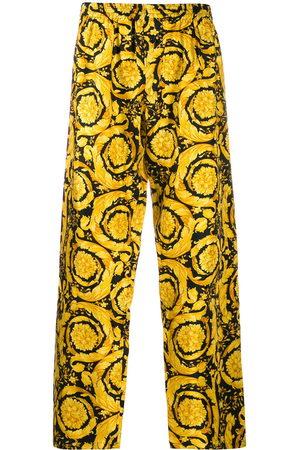 VERSACE Men Pajamas - Barocco print silk pajama trousers