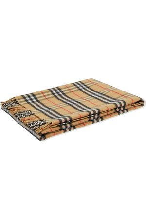 Burberry Check fringed-edge blanket - Neutrals