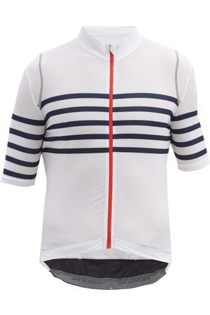 Cafe du Cycliste Men T-shirts - Mona Striped-jersey T-shirt - Mens - Navy