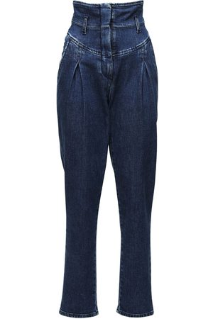 Alberta Ferretti High Waist Stretch Cotton Jeans