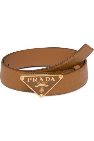 Prada Women Belts - Logo plaque belt