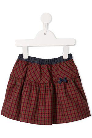 Familiar Girls Printed Skirts - Plaid print skirt