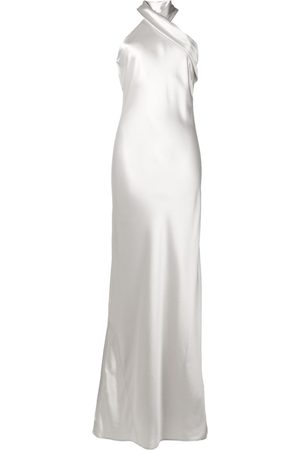 GALVAN Pandora halter neck dress - Grey