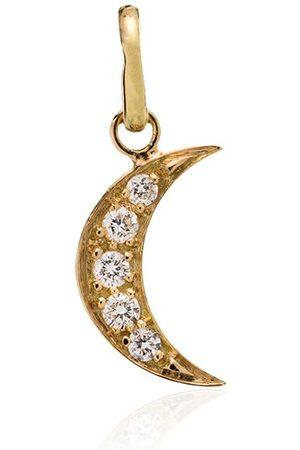 GIGI CLOZEAU 18kt crescent moon diamond charm