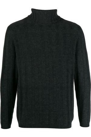 N.PEAL Ribbed roll neck jumper - Grey