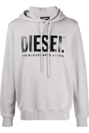 Diesel Printed logo hoodie - Grey