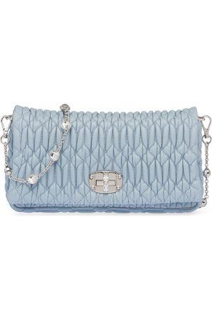 Miu Miu Miu crystal leather clutch bag