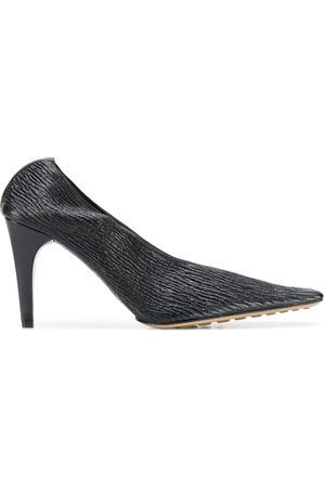 Bottega Veneta Textured square-toe pumps