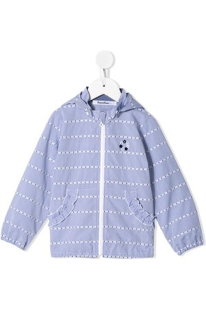 Familiar Embroidered-details hooded jacket