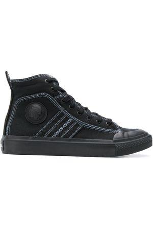 Diesel High top sneakers in bicolour cotton