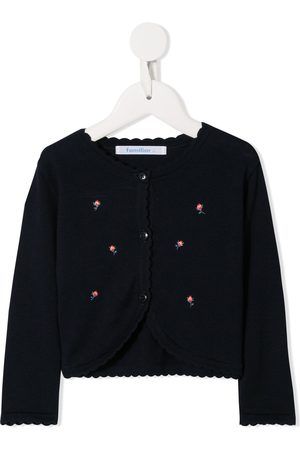 Familiar Embroidered rose cardigan