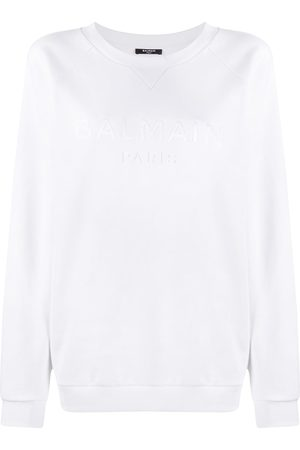Balmain Logo-embroidered raglan sweatshirt