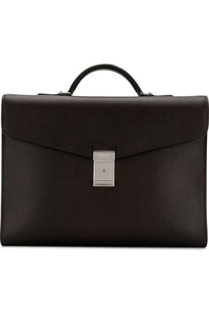 Church's Warwick logo engraved briefcase