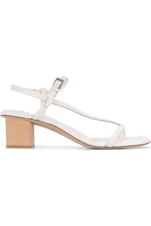 ROBERTO DEL CARLO Diagonal strap block heel sandals