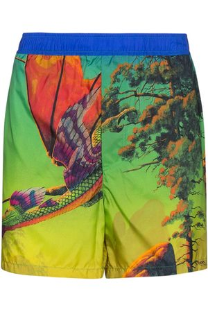 VALENTINO Dragon At Dawn print swim shorts