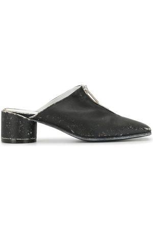 MM6 MAISON MARGIELA Zip-up block heel mules