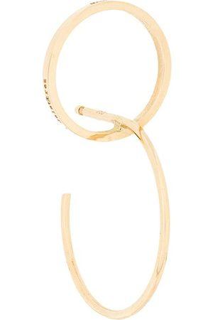 DELFINA DELETTREZ Interlocked hoop earrings - Metallic