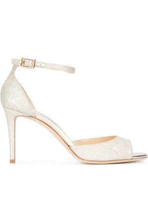Jimmy Choo Annie 85 sandals - Metallic