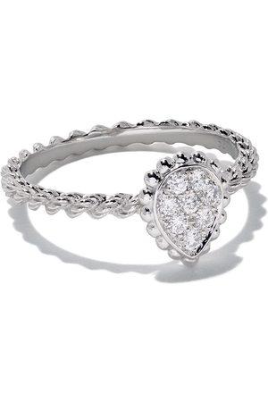 Boucheron 18kt white gold Diamond Serpent Bohème XS motif ring - WG