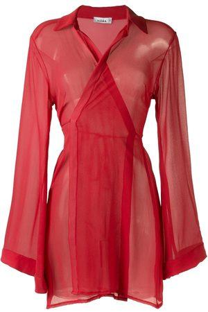 AMIR SLAMA Sheer panel dress