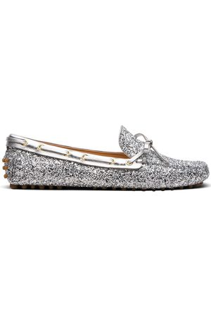 CAR SHOE Metallic driving loafers