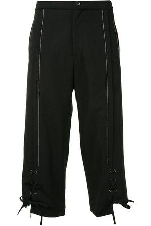 YOHJI YAMAMOTO Lace-up cropped trousers