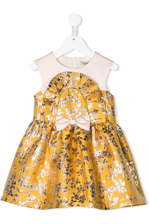 HUCKLEBONES LONDON Floral-jacquard short dress