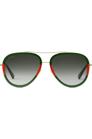 Gucci Aviator metal sunglasses - Metallic