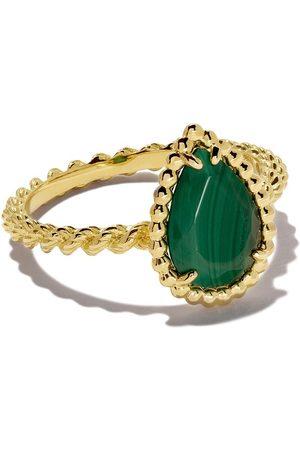 Boucheron Women Rings - 18kt yellow gold Serpent Bohème malachite S motif ring - YG