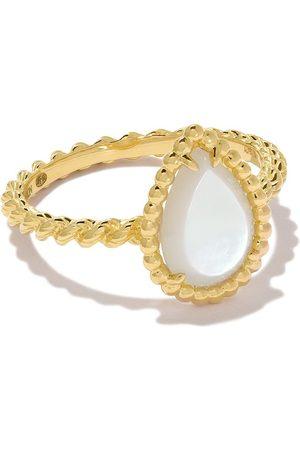 Boucheron 18kt yellow gold Serpent Bohème mother-of-pearl S motif ring - YG