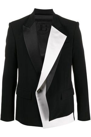 Balmain Bicolor layered lapel jacket