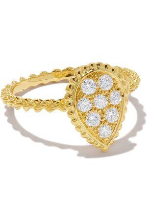 Boucheron 18kt yellow gold Diamond Serpent Bohème S motif ring - YG